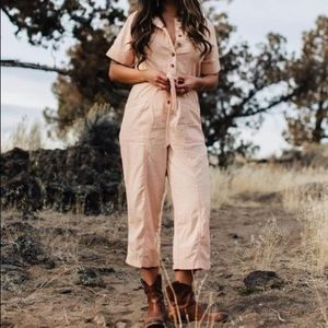 Madewell Top-Stitched Coverall Jumpsuit Sz 12